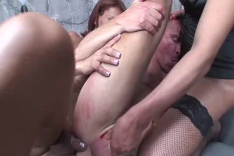 Two ladyboys Double penetrating A lad