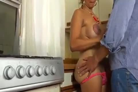 nailing My cute  tranny Wife In The  Kitchen