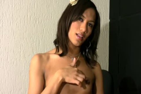 Feminine Femboy strips Off thongs And Masturbates Shemeat