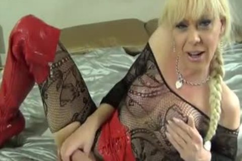 Blond sheboy Joanna Jet Playing With Her recent dildos