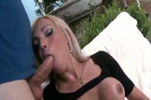 Seducing blond ladyboy acquires hammered