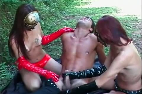nailed By Masked tranny sweethearts In Gloves