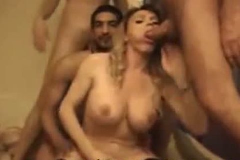 Two kinky trannies In A kinky Foursome orgy Part 1