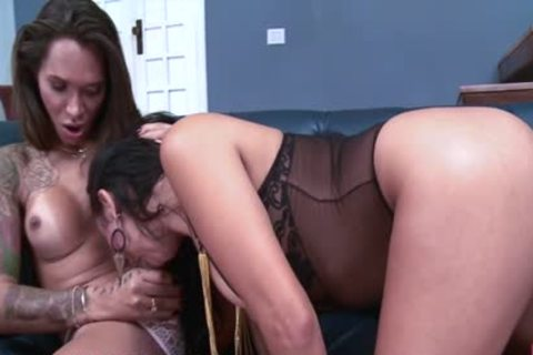 tranny three-some With angel And man fucking Hard And Cumming!