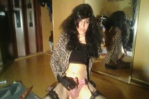 Emilie Crossdresser ball batter drinking Compilation