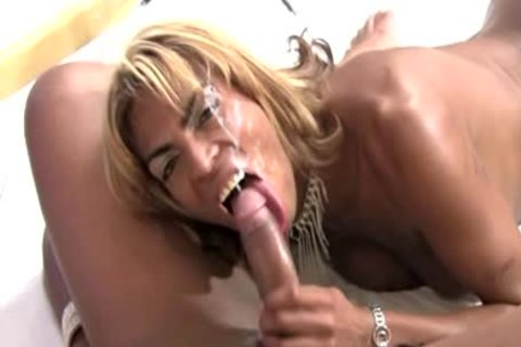 darksome trannies In ramrod sucking And ass fucking Foursome