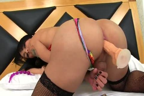 shemale Nicolly Pantoja Playing With Rubber schlongs