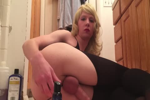 Sissy toys juicy ass With Glass fake penis