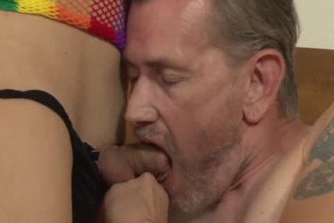 Gianna Rivera gets The Ultimate tranny fantasy cum To Life When Shes team-nailed
