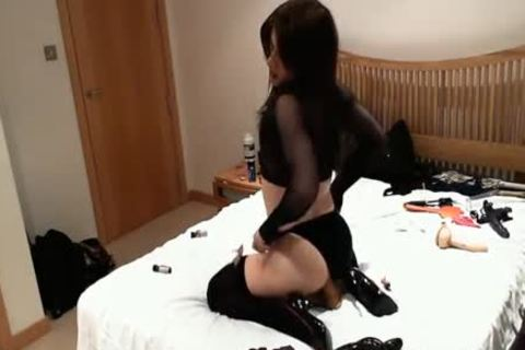stunning wild ladyman whore fucks sextoy dildos And High Heels Up Her sexy butthole