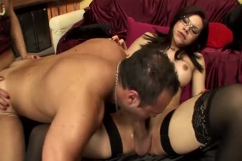 Two tgirls pounding With A dude this day