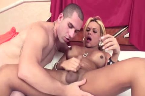 slutty blonde ladyboy Erika Backster And A twink plough Each Others Buttholes