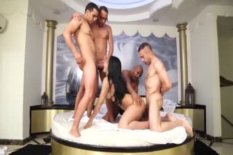 Latin shemale banged Hard In A group-sex