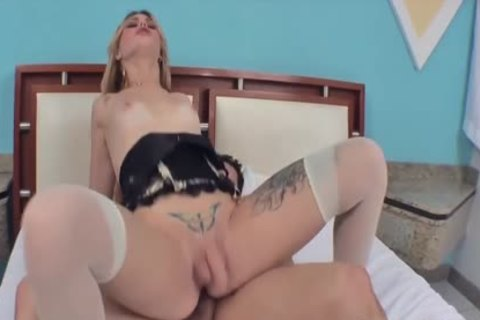 nice-looking ladyboy Carla Cardille acquires Her arse nailed And Creampied
