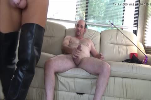 Stefani Boots ass In Chastity ,drink spooge