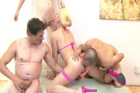 TS tranny Jamie French At bare gang pooper sex