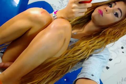 Blond Latin ladyboy Does Her chap Anally