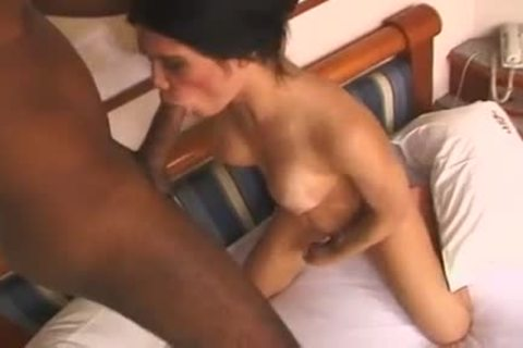 naughty T-beauty Luana Lethuan  With good Jug acquires Her Face And butthole poked With large Tool Of Her darksome-skinned lover