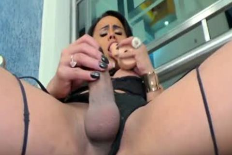 TS whore Lohara Lomark Reams Her Chocolate aperture With A Fake penis
