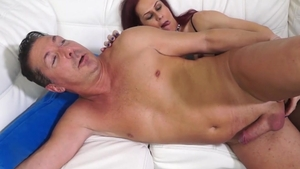 TransBella: Redhead Isabella Branco with Pierre DJ drilled