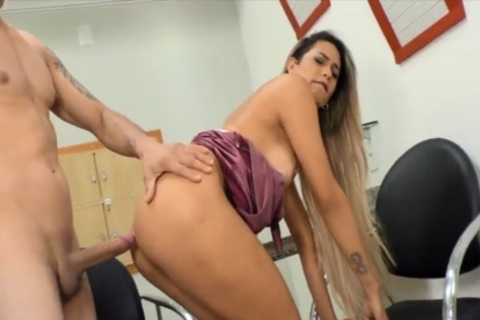 DreamTranny - wild TS Taking penis doggy style Compilation