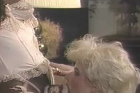 Interracial Vintage three-some With A darksome tranny
