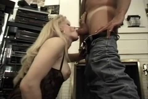 busty golden-haired In Fishnet pokeing A twink On The Floor