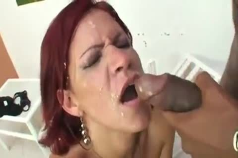 Red Haired hoe poked Hard