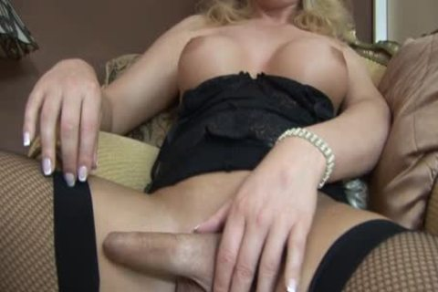 Alison Dale Is A greater amount older shemale Watch Her jack off