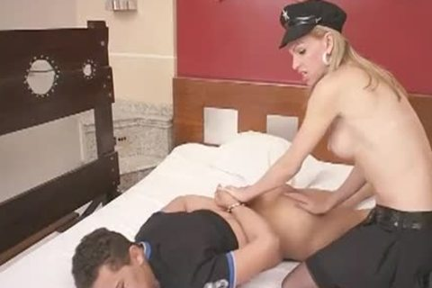 blond shelady Cops pounds Her chap's attractive butthole